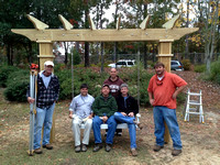 Building a Swing at Lower Cape Fear Hospice